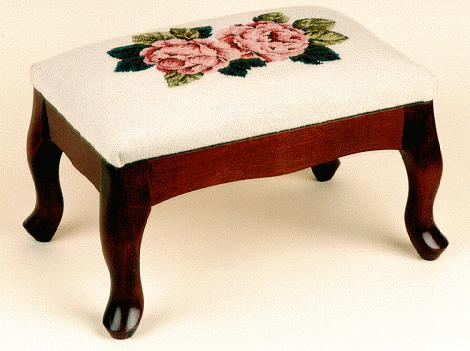 Classic Queen Anne Footstool Sudberry House